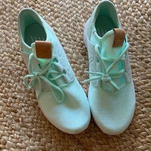 Mint New Balance Knit Sneakers